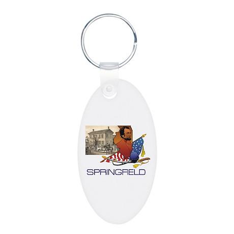 ABH Springfield Aluminum Oval Keychain