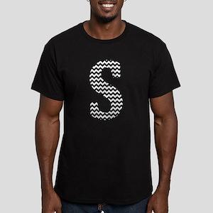 Black and White Chevron Letter S Monogram T-Shirt