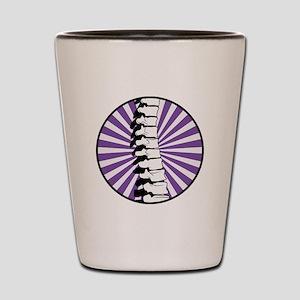 Purple Burst Spine Shot Glass