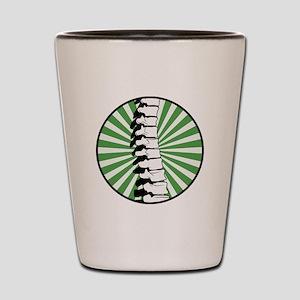 Green Burst Spine Shot Glass