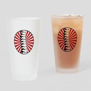 Red Burst Spine Drinking Glass