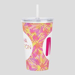 Alpha Omicron Pi Pink Acrylic Double-wall Tumbler