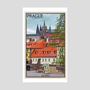Prague Castle Sticker (Rectangle)