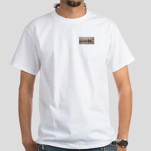 Charles Bridge Panorama White T-Shirt
