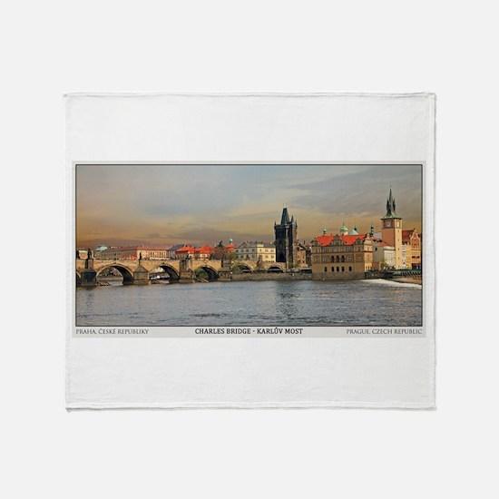 Charles Bridge Panorama Throw Blanket