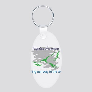 The Storm Aluminum Oval Keychain