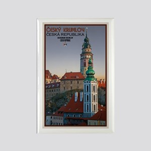 Cesky Krumlov Towers Rectangle Magnet