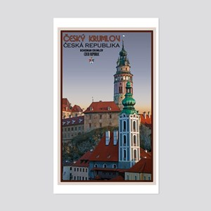 Cesky Krumlov Towers Sticker (Rectangle)