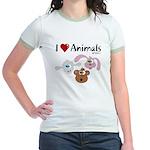 I Love Animals - Jr. Ringer T-Shirt