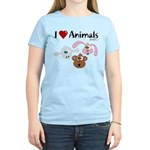I Love Animals - Women's Light T-Shirt