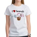 I Love Animals - Women's T-Shirt