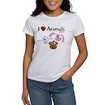 I Love Animals - Women's T-Shirt