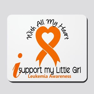 With All My Heart Leukemia Mousepad