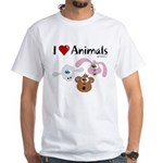 I Love Animals - White T-Shirt