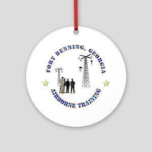 Airborne Training - Ft Benning Ornament (Round)