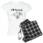 I Love Animals - Women's Light Pajamas