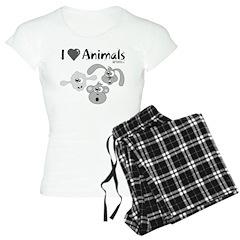 I Love Animals - Women's Light Pajamas