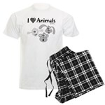 I Love Animals - Men's Light Pajamas