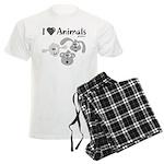 I Love Animals - Men's Light Pajamas