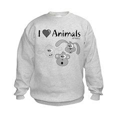 I Love Animals - Kids Sweatshirt