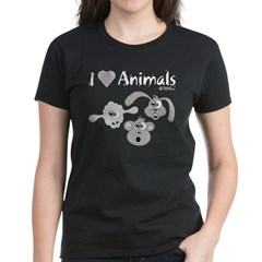 I Love Animals - Women's Dark T-Shirt