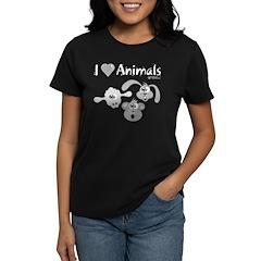 I Love Animals - Women's Dark T-Shirt
