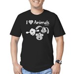 I Love Animals - Men's Fitted T-Shirt (dark)