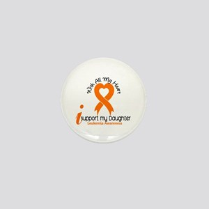 With All My Heart Leukemia Mini Button