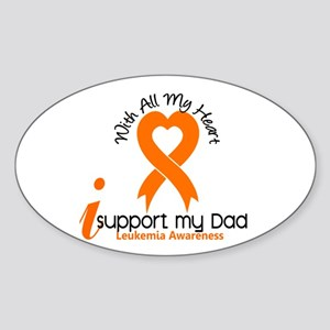 With All My Heart Leukemia Sticker (Oval)