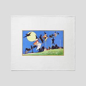 Witches Flight Throw Blanket