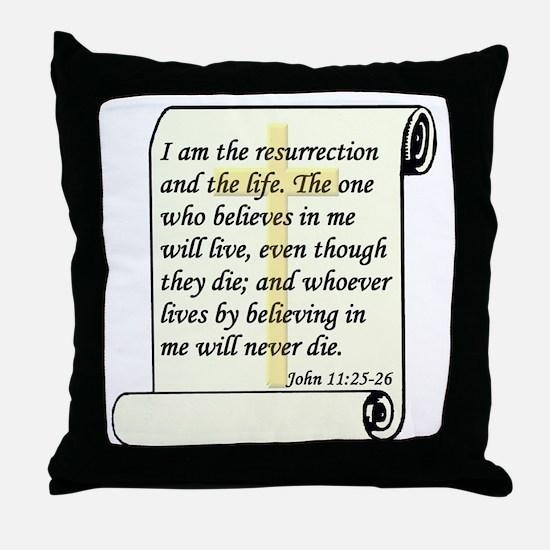 John 11:25-26 Throw Pillow