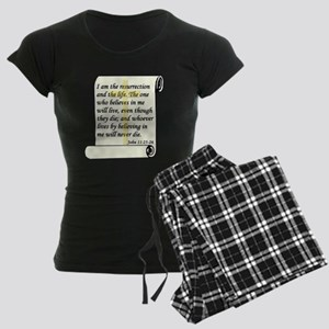 John 11:25-26 Women's Dark Pajamas