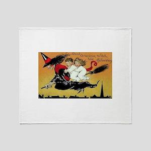 Witch Flight Throw Blanket