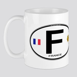 France Euro Oval Mug