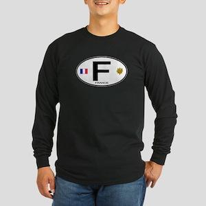 France Euro Oval Long Sleeve Dark T-Shirt