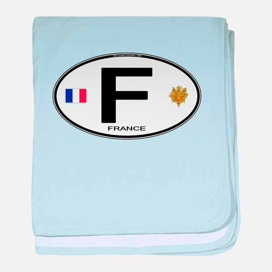 France Euro Oval baby blanket