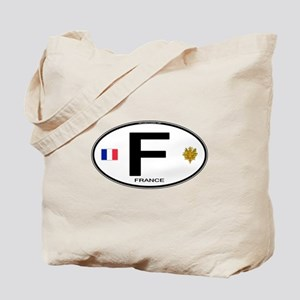 France Euro Oval Tote Bag
