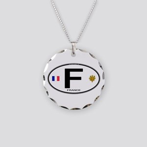 France Euro Oval Necklace Circle Charm