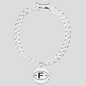 France Euro Oval Charm Bracelet, One Charm