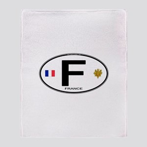 France Euro Oval Throw Blanket