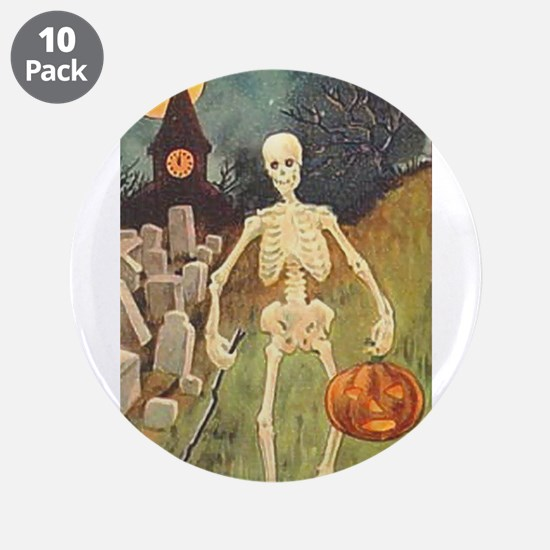 "skeleton 3.5"" Button (10 pack)"