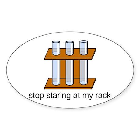 staring Sticker (Oval)