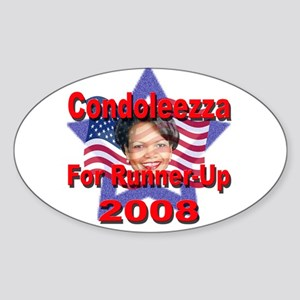 Condoleezza Rice For Runner-U Oval Sticker