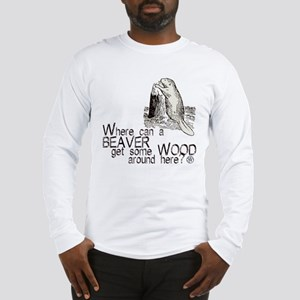 """Beaver/Wood"" Long Sleeve T-Shirt"