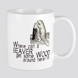 """Beaver/Wood"" Mug"