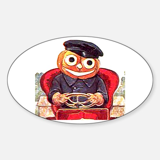 Pumpkin Driver Sticker (Oval)