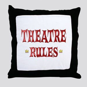 Theatre Rules Throw Pillow