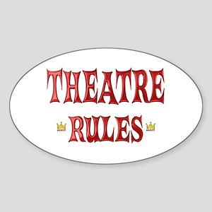 Theatre Rules Sticker (Oval)