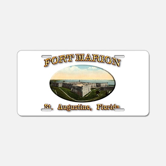 Fort Marion Aluminum License Plate