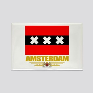 Amsterdam Flag Rectangle Magnet